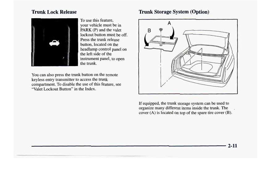 1998 buick riviera owners manual
