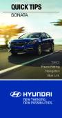 2015 Hyundai Sonata Quick Reference Guide page 1