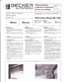 1985 Mercedes-Benz 200D 300D W124 Audio Owners Manual page 1