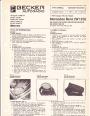 1976-1977 Mercedes-Benz W123 200D 220D 300D 200E 230E 250E 280E 230C C280 CE Becker Audio Manual page 1