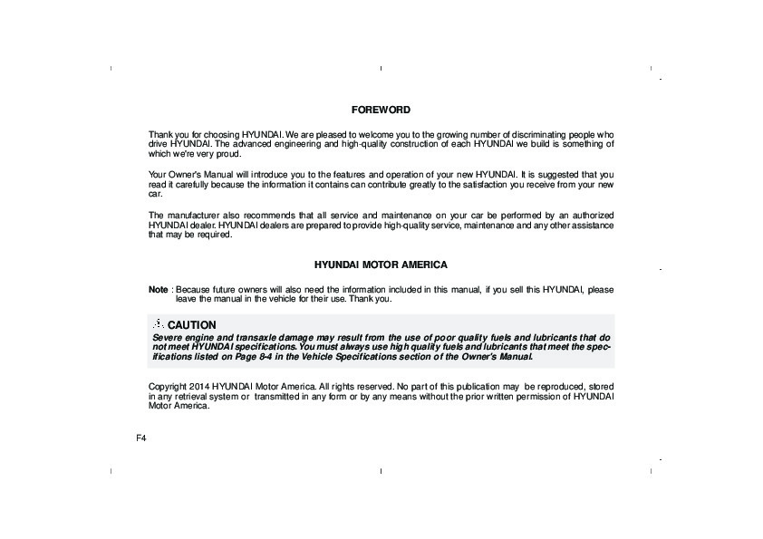 2015 Hyundai Elantra Owners Manual