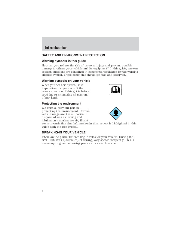 2002 Mazda Tribute Owners Manual